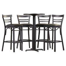 Brodeslavy 5 Piece Pub Table Set