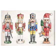 'Nutcrackers' Framed Graphic Art on Wrapped Canvas