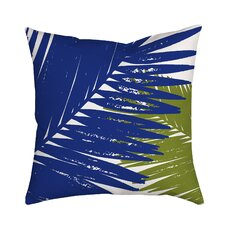 Trinidad Palm Leaves Graphic Polyester Throw Pillow