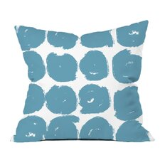 Sketchy Brush Strokes Polka Dot Polyester Throw Pillow