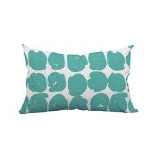 Sketchy Brush Strokes Polka Dot Polyester Lumbar Pillow