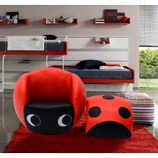 Ladybug Kids Club Chair