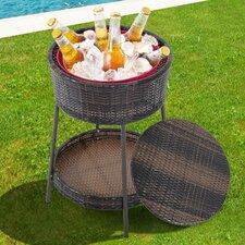 Party Pool Garden Patio Storage Ice Bucket with Wicker Lid