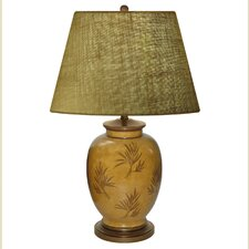 """Amber Waves of Grain Hand Painted Porcelain 28"""" Table Lamp"""
