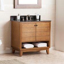 """Reading 34"""" Single Bath Vanity Sink with Granite Top"""