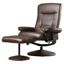Holden Heated Faux Leather Reclining Massage Chair & Ottoman