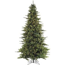 Southern Peace Pine 9' Green Artificial Christmas Tree with 1100 Smart String Lighting with Stand