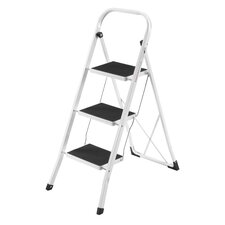 3-Step Steel Step Stool with 330 lb. Load Capacity