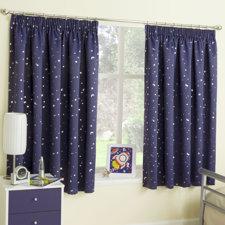 Enhanced Living Moonlight Blackout Single Curtain Panel (Set of 2)