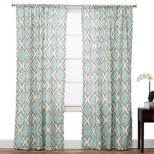 Charleston Geometric Semi-Sheer Rod Pocket Single Curtain Panel