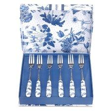 Botanic Blue White and Blue Dessert Fork