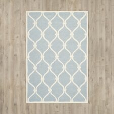 Deslauriers Hand-Tufted Blue Area Rug