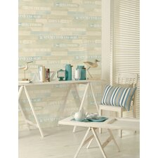 Sea Spray 10m L x 53cm W Geometric Roll Wallpaper