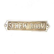 "5"" Brass Screw Room Sign Wall Décor"