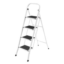 4-Step Steel Step Ladder with 330 lb. Load Capacity