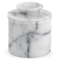 2 Piece Marble Butter Pot Set