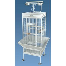 Pawhut Large Aviary Coop Wire Mesh Breeding Cage with Castors