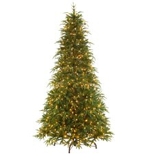 9' Northern Frasier Trees Artificial Christmas Tree with 900 Clear Colored and White Lights with Stand
