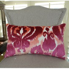 Velvet Bliss Coral Handmade Lumbar Pillow