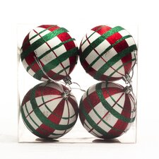Ball Ornament with Lines (Set of 8)