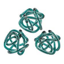 Glass Knot Sculpture (Set of 3)