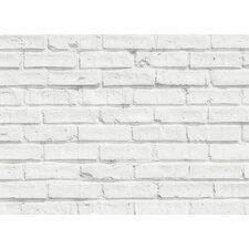 Home Decor Line White Bricks Kitchen Wall Mural