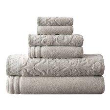6-Piece Jacquard Cotton Towel Set