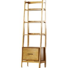 """Easmor 70"""" Leaning Bookcase"""