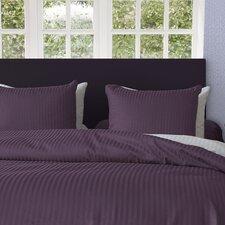 Bettwäsche-Set Uni Stripe BW aus Satin