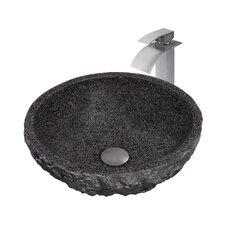 Absolute Granite Stone Circular Vessel Bathroom Sink