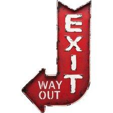 Wandbild Exit