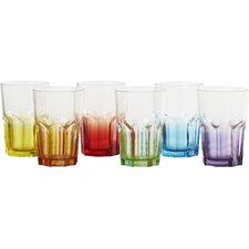 Crazy Colours 0.4L Long Drink Glass