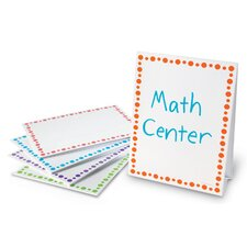 Center Signs Free-Standing Whiteboard, 1' H x 1' W (Set of 5)