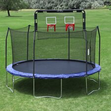 Double Basketball Hoop - Fits 12' Round 6 Pole Skywalker Trampoline