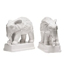 Dolomite Elephant Bookends (Set of 2)