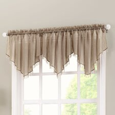 Erica Crushed Sheer Voile Beaded Curtain Valance