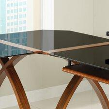 Curve Corner Desk Connector in Black Glass