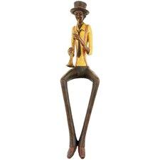 Sitting Jazz Band Trumpeter Figurine