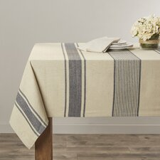 Striped Aulaire Banded Tablecloth