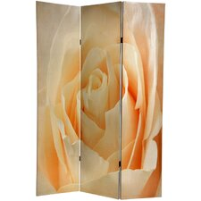 "71"" x 47.63"" Birds and Flowers 3 Panel Room Divider"