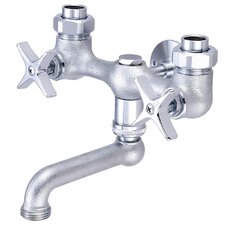 Double Handle Wall Mounted Laundry Faucet