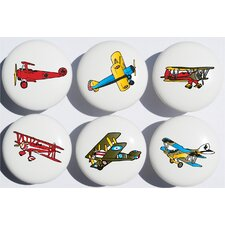 Vintage Airplane Appliance Pull (Set of 6)