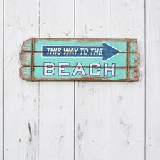 This Way Beach Sign Wall Décor