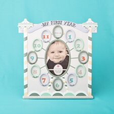 my first year collage circus tent baby picture frame