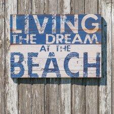 Living the Dream Beach Wall Décor