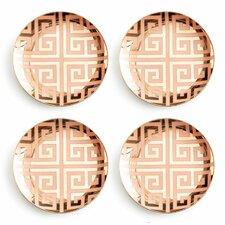 Jet Setter Greek Key Plate (Set of 4)
