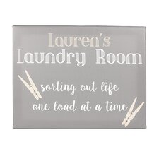 Personalized Laundry Room Textual Art on Wrapped Canvas
