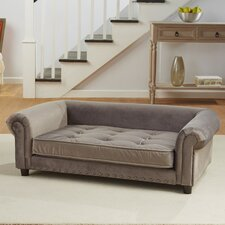 Manchester Velvet Tufted Dog Sofa with Cushion