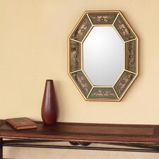 Living Nature Reverse Painted Glass Wall Mirror