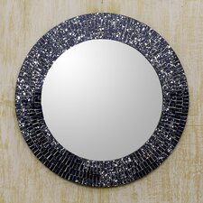 Round Glass Mosaic Wall Mirror